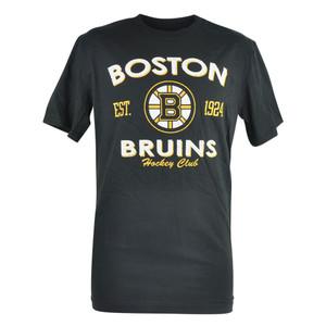 NHL Boston Bruins Twin Farms Distressed Mens Tshirt Black Hockey Club Tee