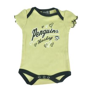 NHL Pittsburgh Penguins Owl Creek Infant Baby Girls Bodysuit Creeper