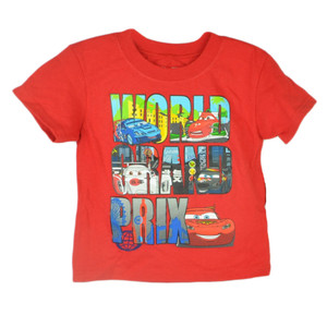 Disney Pixar Cars 2 Movie World Grand Prix Animation McQueen Toddler Tshirt Tee