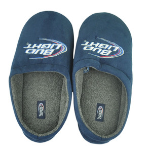 Bud Light Budweiser Logo Beer Malt Liquor American Lager Fleece Slippers