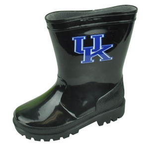 NCAA Kentucky Wildcats Rain Boots Weather Black Child Water Sports Shoes Size