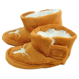 NCAA Texas Longhorns Infant Baby Fur Sport Slippers Warm Booties Orange