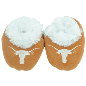 NCAA Texas Longhorns Infant Fur Sport Slippers Warm Booties Orange Fan