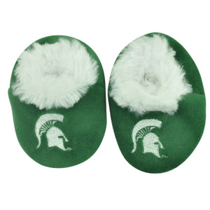 NCAA Michigan State Spartans Infant Baby Fur Sport Slippers Warm Booties