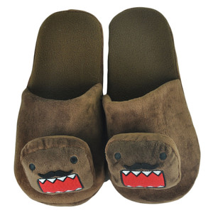 Domo Kun Japanese Animation Mustache Head Cartoon Plush Slippers Medium 8-9 a71e7dd8882f