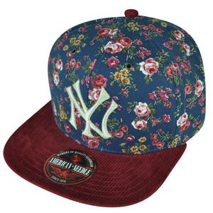 MLB American Needle New York Yankees Floral Pattern Flat Bill Clip Buckle Hat Cap