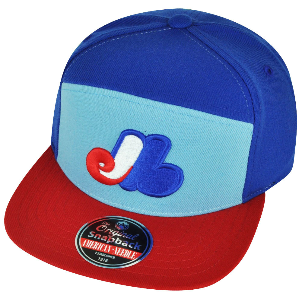 MLB American Needle Montreal Expos Ante Snapback Flat Bill Hat Cap Sports  Blue. Your Price   22.95 (You save  2.04). Image 1 57b07c2499fe
