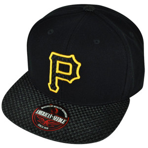 MLB American Needle Pittsburgh Pirates Hatch Woven Flat Bill Hat Cap Clip Buckle