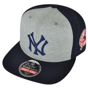MLB American Needle New York Yankees 2Tone Grey Navy Snapback Hat Cap Jimbo NY