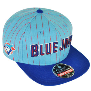 MLB American Needle Toronto Blue Jays Dotty Pin Snapback Flat Bill Hat Cap Sport