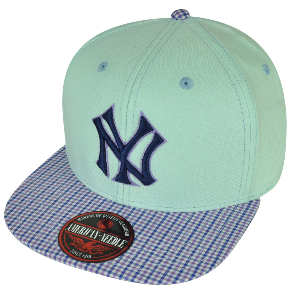 8c9a50d4f9f MLB American Needle New York Yankees Plaid Flat Bill Clip Buckle Hat Cap  Mint. Your Price   22.95 (You save  2.04). Image 1