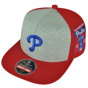 MLB American Needle Philadelphia Phillies Jimbo 2Tone Red Grey Snapback Hat Cap