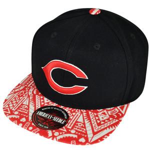 MLB American Needle Cincinnati Reds Fore Front Aztec Pattern Sun Buckle Hat Cap