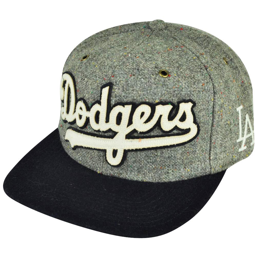 MLB American Needle Los Angeles Dodgers Strap Back Vintage Gray Wool ... b0bd23d7de0