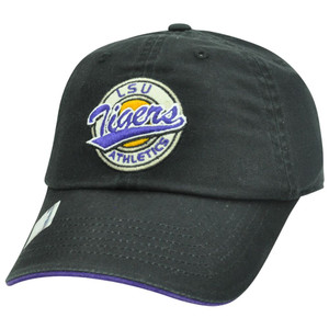 NCAA Garment Wash Circle Logo Relax Sun Buckle Felt Hat Cap LSU Louisiana Tigers