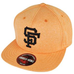 MLB American Needle San Francisco Giants Clip Buckle Orange Flat Bill Hat Cap