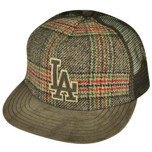 MLB American Needle Los Angeles Dodgers Strap Back Brown Vintage Mesh Hat Cap