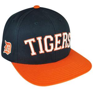 9daef2602bb MLB American Needle Detroit Lions Flat Bill Snapback Hat Cap Navy Adjustable