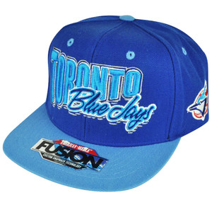 MLB American Needle Toronto Blue Jays Snapback Flat Bill Hat Cap Adjustable