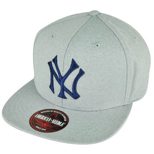 9033e1c99a3be MLB American Needle New York Yankees Gray Felt Snap Buckle Flat Bill Hat Cap