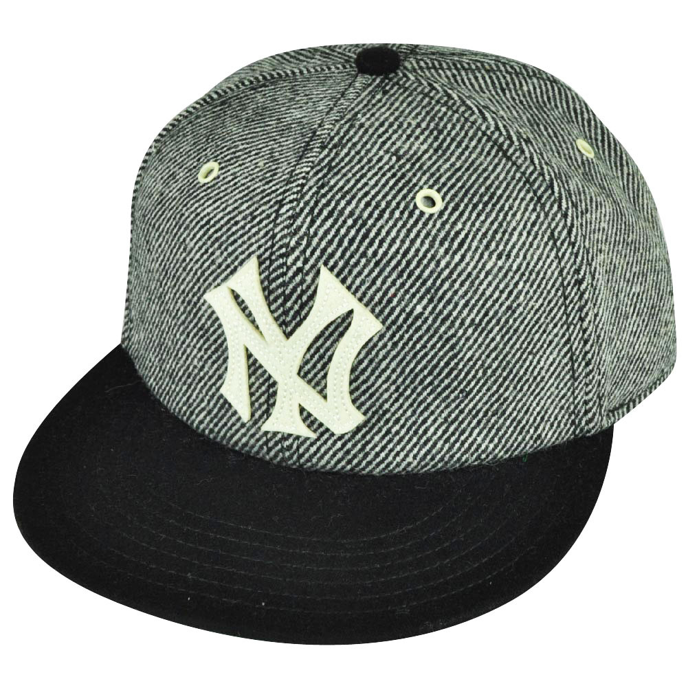 433b696c23d MLB American Needle New York Yankees Strap Back Gray Black Striped Wool Hat  Cap. Your Price   22.95 (You save  2.04). Image 1