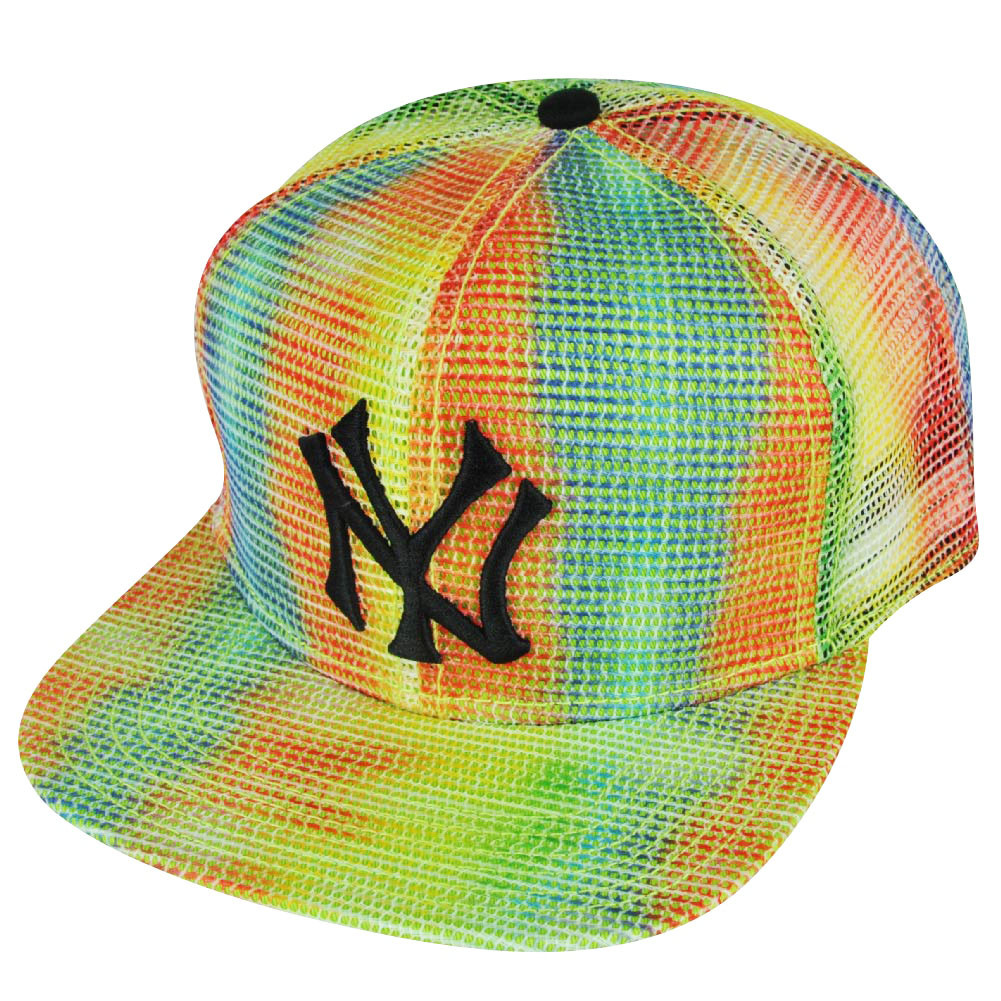 8d53b14e950 MLB American Needle New York Yankees Rainbow Mesh Flat Bill Snapback Hat Cap.  Your Price   22.95 (You save  2.04). Image 1