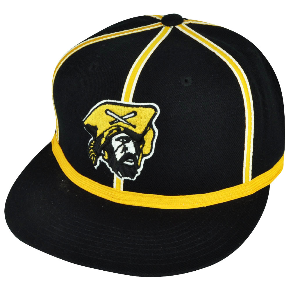 MLB American Needle Pittsburgh Pirates Black Yellow Fitted 7 1 4 ... 48eae6b1d5b