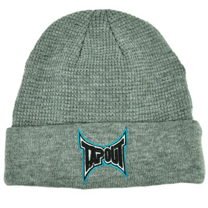 Tapout Gray Cuffed Knit Beanie Toque Hat Mixed Martial Arts MMA UFC Cage  Fight 86ee85bc8610