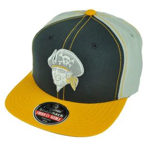 MLB American Needle Pittsburgh Pirates Snapback Grey Yellow Flat Bill Hat Cap