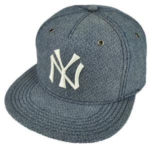 MLB American Needle New York Yankees Denim Blue Flat Bill Clip Buckle Hat Cap