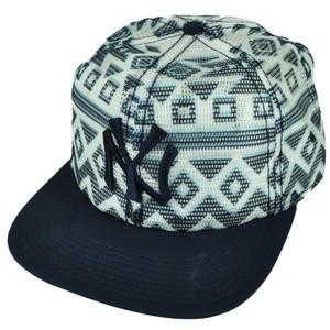 MLB American Needle New York Yankees Aztec Mesh Snapback Flat Bill Hat Cap Blue
