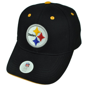 NFL Pittsburgh Steelers Velcro Black Hat Cap Sports Adjustable Cotton Football
