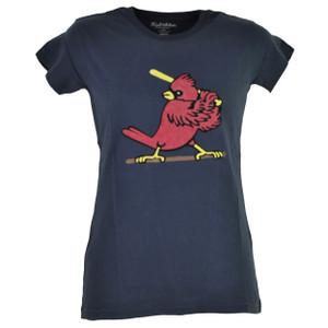 MLB St Louis Cardinals Petite Womens Blue Tshirt Tee Short Sleeve Ladies Cotton