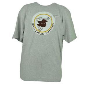 MLB San Diego Padres Gray Short Sleeve Mens Adult Tshirt Tee Cotton Crew Neck