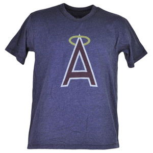 MLB Los Angeles Angels Blue Short Sleeve Tshirt Tee Mens Adult Crew Neck Sports
