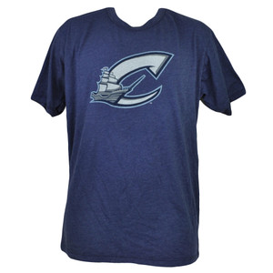 MiLB Columbus Clippers Mens Tshirt Tee Blue Cotton Short Sleeve Crew Neck Blue