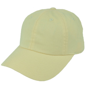 American Needle Cream Relaxed Hat Cap Blank Plain Solid Color Velcro Classic