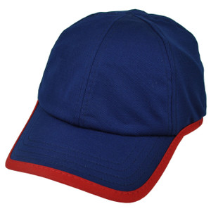 American Needle Blue Red Relaxed Hat Cap Blank Plain Solid Color Velcro Classic
