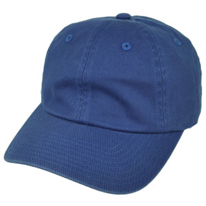 American Needle Blue Relaxed Hat Cap Blank Plain Solid Color Sun Buckle Classic