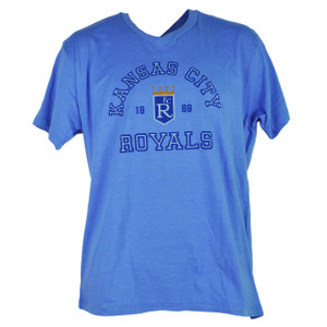 MLB Kansas City Royals KC 1969 Mens Adult Large V Neck Short Sleeve Tshirt Tee