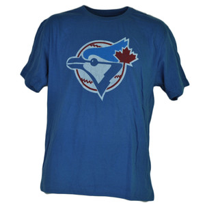 MLB Toronto Blue Jays Medium Short Sleeve Cotton Crew Neck Mens Adult Sports