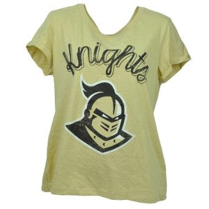 NCAA Central Florida Knights Large Distressed Tshirt Tee Womens Short Sleeve