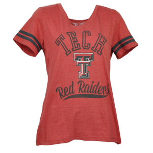 NCAA Texas Tech Red Raiders V Neck Medium Womens Tshirt Tee Short Sleeve Sports