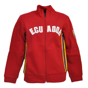 Ecuador Country BB London Track Jacket Womens Ladies Fleece Zipper Sweater Red