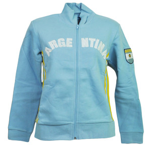 Argentina Country BB London Track Jacket Womens Ladies Fleece Zipper Sweater