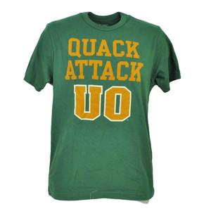 NCAA Oregon Ducks Quack Attack Green Mens Adult TShirt Tee Crew Neck Sports