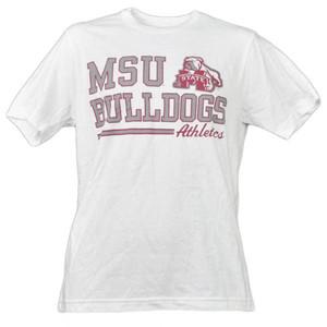 NCAA Mississippi State Bulldogs White Underline Logo Mens Tshirt Short Sleeve