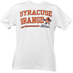 NCAA Syracuse Orange White Underline Logo Mens Tshirt Tee Short Sleeve Sports
