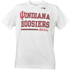 NCAA Indiana Hoosiers White Underline Logo Mens Tshirt Tee Short Sleeve Sports