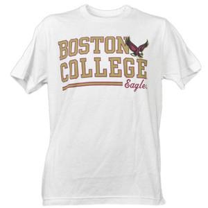 NCAA Boston College Eagles White Underline Logo Mens Tshirt Tee Short Sleeve